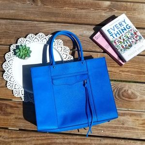 • {Rebecca Minkoff} Saffiano Blue Leather MAB